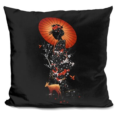 Geisha Nature Throw Pillow