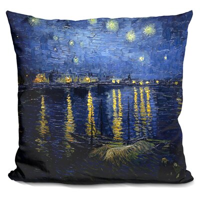 Starry Night Over The Rho^Ne Throw Pillow