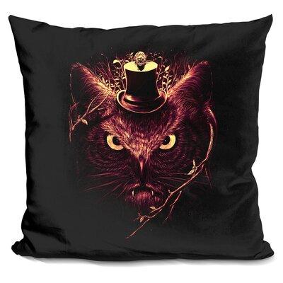 Meowl Throw Pillow