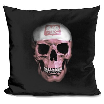 Polish Skull Throw Pillow