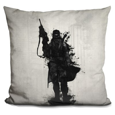 Post Apocalyptic Warrior Throw Pillow