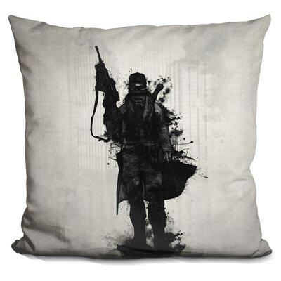 Post Apocalyptic Warrior Throw Pillow