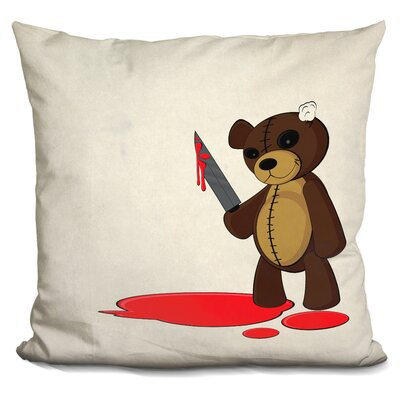 Psycho Teddy Throw Pillow