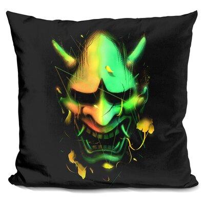 Hannya Mask Throw Pillow