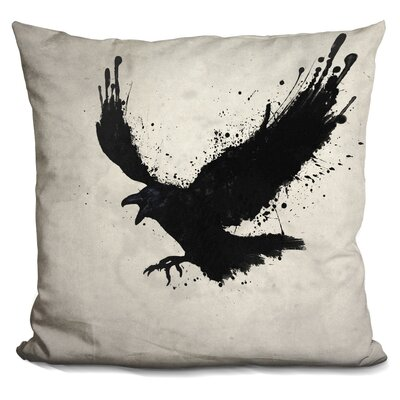 LeMenager Raven Throw Pillow