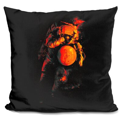 ItS A Small World After All Throw Pillow Color: Red/Beige
