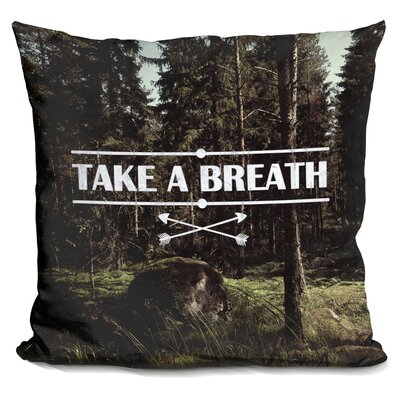Manriquez Take a Breath Throw Pillow