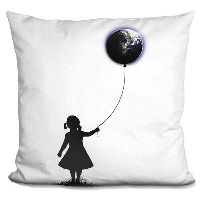 Pelton the Girl That Holds the World Throw Pillow