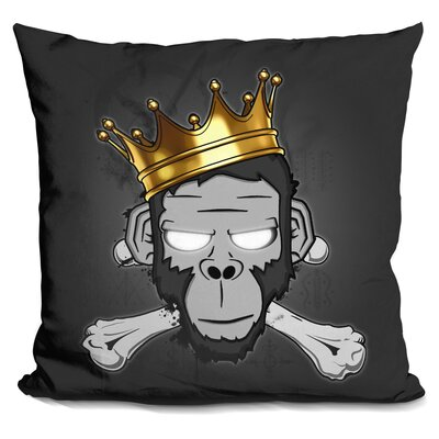 Manske the Voodoo King Throw Pillow