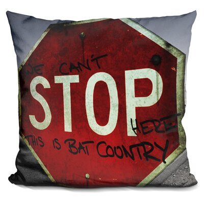 Pelzer This Is Bat Country Throw Pillow