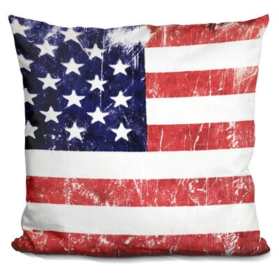 Grunge Flag Throw Pillow