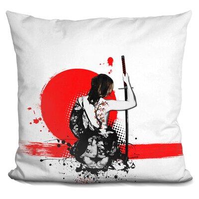 Trash Polka Female Samurai Throw Pillow