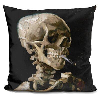 Skul of A Skeleton Throw Pillow