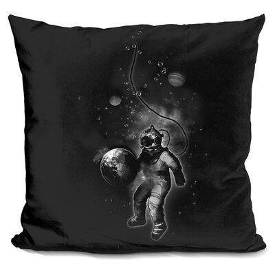 Deep Sea Space Diver Throw Pillow