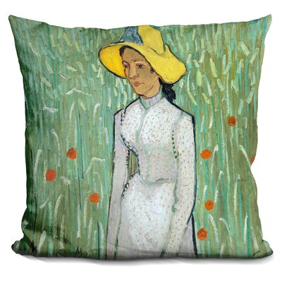 Girl in Throw Pillow