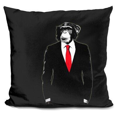 Domesticated Monkey Throw Pillow