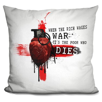 When The Rich Wages War Throw Pillow