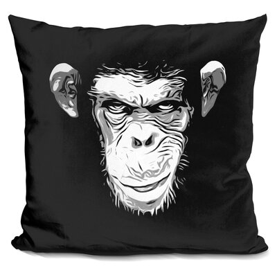 Evil Monkey Throw Pillow