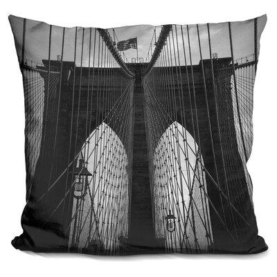 Marrufo Brooklyn Bridge Throw Pillow