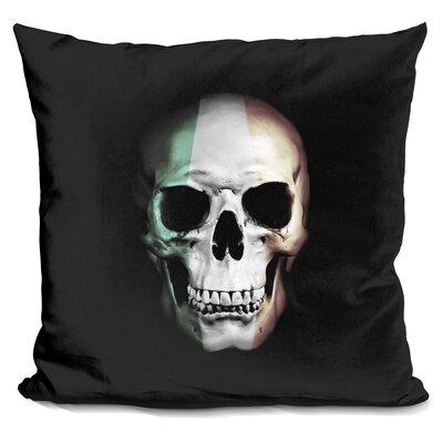 Irish Skull Throw Pillow