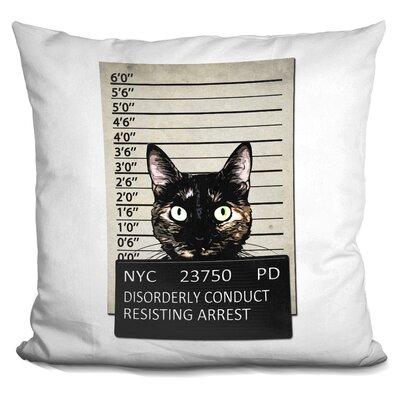 Kitty Mugshot Throw Pillow