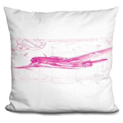Percival Flight Schematic Throw Pillow