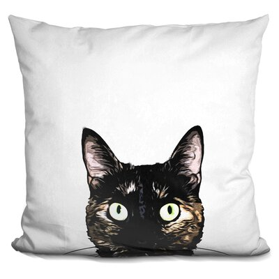 Pecor Peeking Cat Throw Pillow