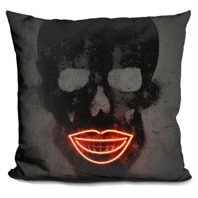 Skull Neons Throw Pillow