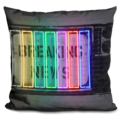 Kenos Breaking News Throw Pillow