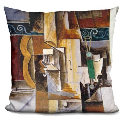 Violin and Guitar Throw Pillow