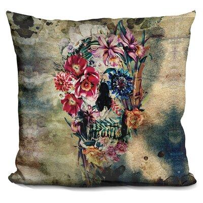 Skull on Old Grunge Throw Pillow