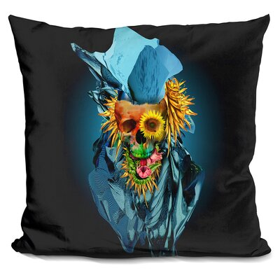 Skull Vivid Throw Pillow