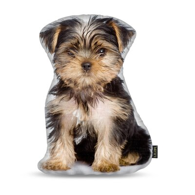 Manzella Yorkie Throw Pillow