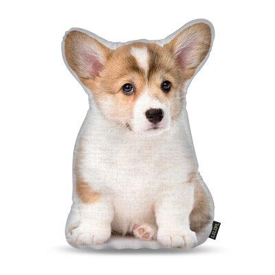 Manzella Corgi Puppy Throw Pillow