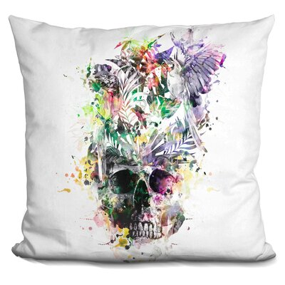 Skull Parrots Throw Pillow