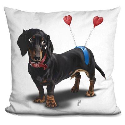 Butt Daschund Throw Pillow