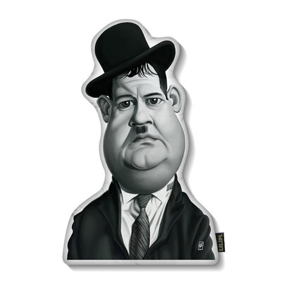Oliver Hardy Throw Pillow