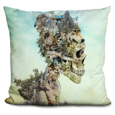Nature Skull Throw Pillow
