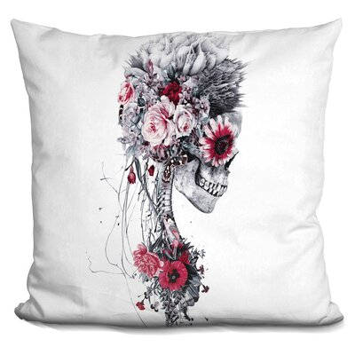 Skeleton Bride Throw Pillow