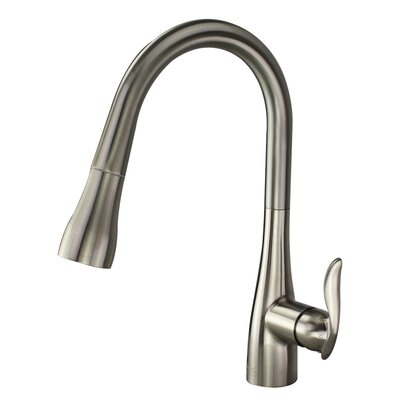 Arcata Pull Out Single Handle Kitchen Faucet Finish: Luxe Stainless