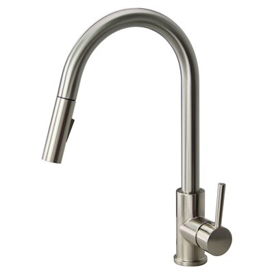 Bellarte Pull Out Single Handle Kitchen Faucet Finish: Luxe Stainless
