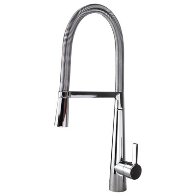 Trattoria Pull Down Single Handle Kitchen Faucet Finish: Polished Chrome