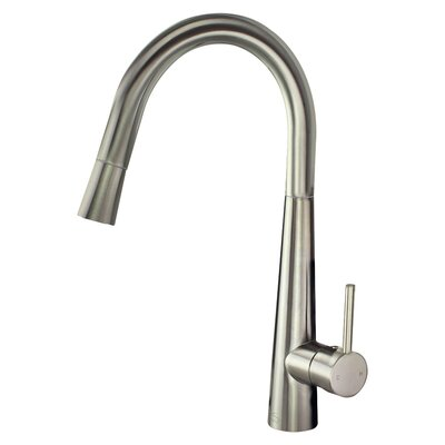 Retreat Pull Out Single Handle Kitchen Faucet Finish: Luxe Stainless