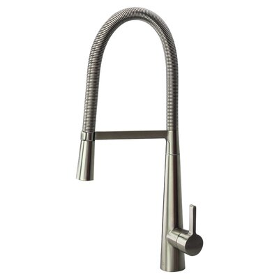 Trattoria Pull Down Single Handle Kitchen Faucet Finish: Luxe Stainless