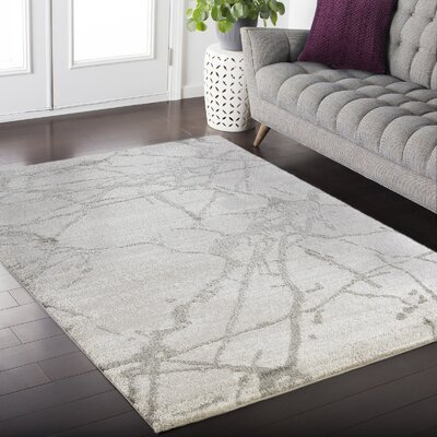 Shores Gray Area Rug Rug Size: Rectangle 4 x 6