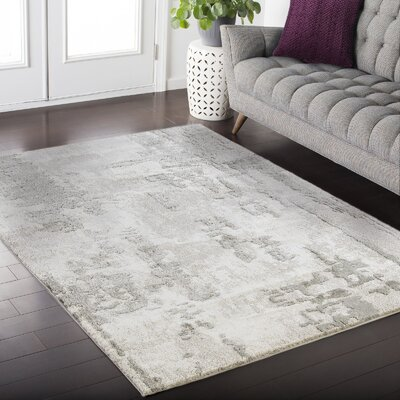 Crider Gray Area Rug Rug Size: Rectangle 39 x 52