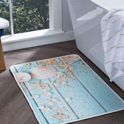 Dunbar Shells Foam Core Comfort Bath Rug Size: 24 W x 36 L