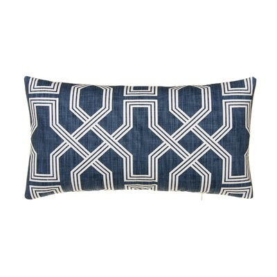 Keister 100% Cotton Lumbar Pillow Color: Blue