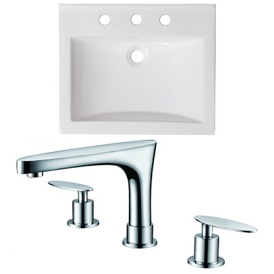 Vee Ceramic 21 Single Bathroom Vanity Top