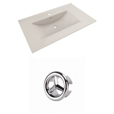 Drake 36 Single Bathroom Vanity Top Faucet Mount: Single, Overflow Cap Color: Chrome